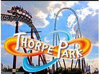 2 x THORPE PARK TICKETS - MONDAY 5th JUNE