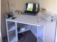 Ikea Borgsjo white corner desk