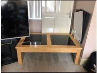 Premium Hard Wood Coffee Table with High Quality Granite