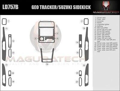 Dash Trim Kit for GEO TRACKER 96 97 98 carbon fiber wood aluminum