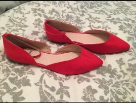 As new Red Faith flat shoes