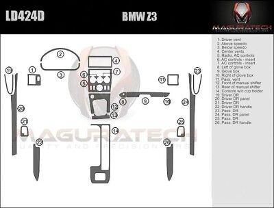 Dash Trim Kit for BMW Z3 00 01 02 carbon fiber wood aluminum Bmw Wood Dash Kits