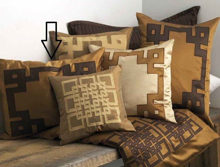 Ann Gish Mariana App Amber / Chocolate 100% SILK King Pillow Sham Bedding