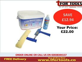 Ettore Window Cleaning Bucket Kit All purpose squeegee washer 04995