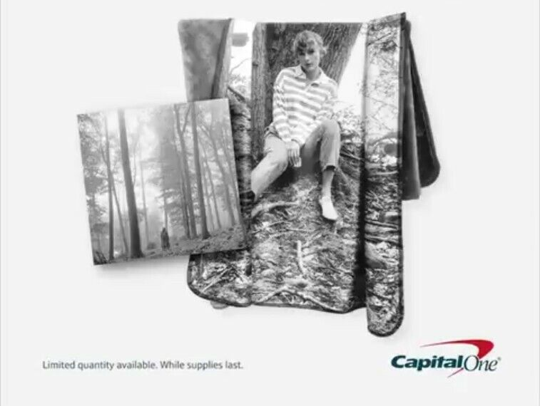 Taylor Swift Limited Edition Folklore Blanket CD Sold Out Capital One Exclusive
