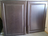 Gorgeous chocolate maple cabinets and doors with nickel hardware