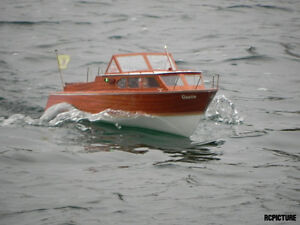 ... Model Boat Cabin Cruiser Plans - Queen VTG Cabin Cruiser PLANS ONLY