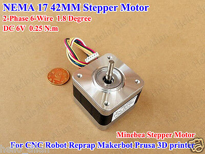 Minebea Nema17 2 Phase Hybrid Stepper Motor For Reprap Makerbot Prusa 3d Printer