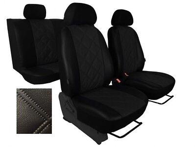 LDV MAXUS  Leather Look CAMBRIDGE Grey//Black FRONT Van Seat Covers
