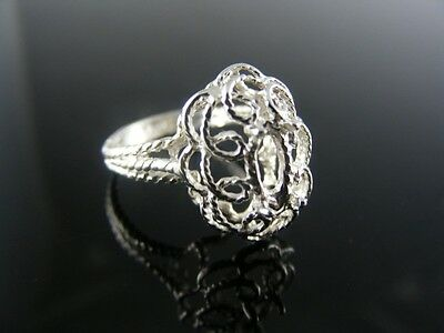 5651 RING SETTING STERLING SILVER, SIZE 4.75, 8X4 MM MARQUISE - 4mm Marquise Ring Setting