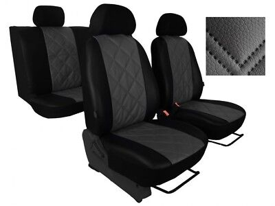 HYUNDAI SANTA FE Mk3 2012-2018 ECO LEATHER /& ALICANTE FRONT SEAT COVERS TAILORED