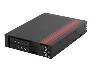 iStarUSA BPX-525-SA 5.25inch Bay LCD Mobile Rack for 3.5//2.5inch SATA//SAS HDD