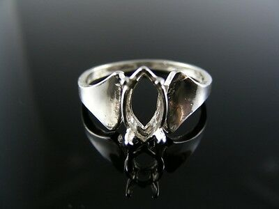 5465  RING SETTING STERLING SILVER, SIZE 6,  8X4 MM MARQUISE - 4mm Marquise Ring Setting
