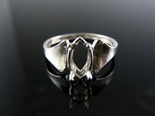 D6130 Ring Setting Sterling Silver Size 8 12x6 mm Marquise Gemstone