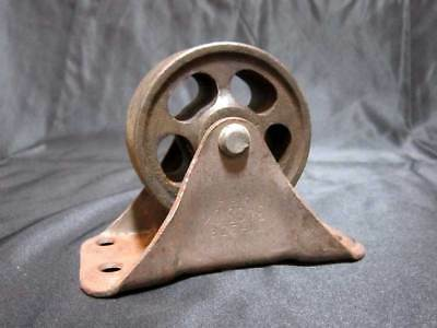 Vintage Steel Cast Iron Industrial Caster Wheels Heavy Duty Riveted Metal