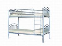 BRAND NEW METAL BUNK BED VERY STRONG, PERFECT FOR CHILDREN AND SUITABLE FOR ADULTS