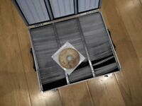 DVD Collection Of Over 300 Films (400+ DVDs) In A Metal Flight Case *Very Good Or Better Condition*