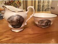 Liverpool Road Pottery Ltd sugar bowl & milk/cream jug - hipster