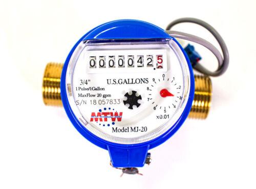 "3/4"" Pulse Water Meter - NSF Certified - Optional WiFi & Free Cloud Service"