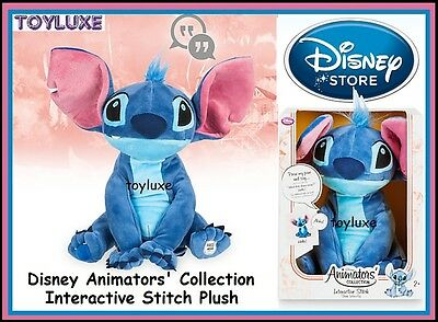 DisneyStore Animators' Collection Interactive Stitch 11'' Plush Talking Doll NEW