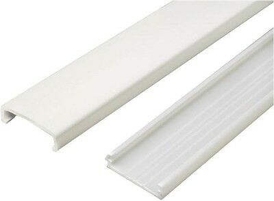 NEW WIREMOLD USA MADE NM-1 PLASTIC IVORY 2 PIECE 5 FOOT CHANNEL WIRE PROTECTOR