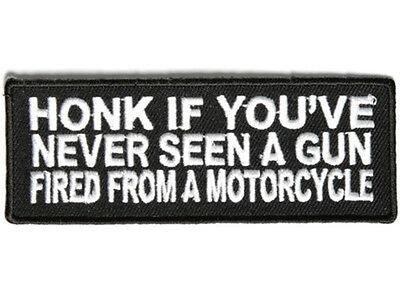 HONK IF YOU'VE NEVER.. Embroidered Jacket Vest Funny Biker Saying Patch Emblem