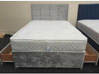 Double Divan 4Ft6 Bed !! Brand New Mattress !! Cash On Delivery