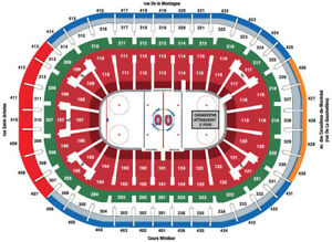 2 Billets hockey Canadien contre Panthers