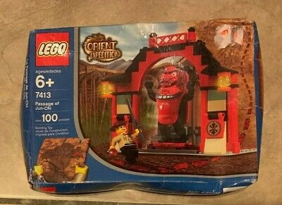 Lego 7413 Orient Expedition Passage of Jun-Chi RETIRED NEW Sealed Bad Shape Box