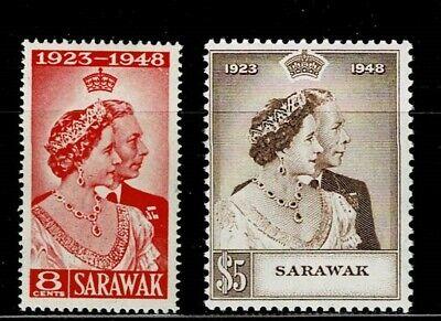 SARAWAK 1948 SET MOUNTED MINT