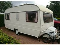 4 berth tourer caravan with awning. Bargain!