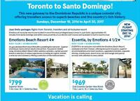 Toronto to Santo Domingo! This new gateway to Dominican Republic