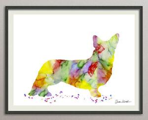 Corgi-Cane-Hund-tutte-le-misure-Stampa-Poster-Stampa-artistica-ACQUARELLI