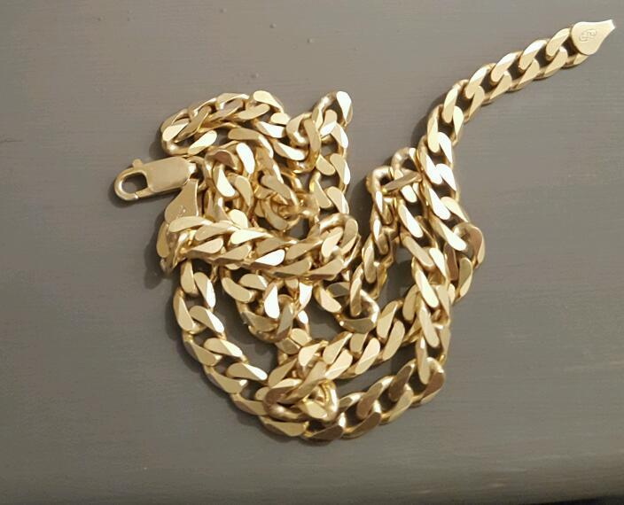 9ct gold plated chain from argos it s 1oz 20inch mint