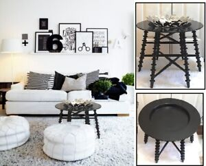 Gorgeous Black Accent Table, Charmingly Timeless!