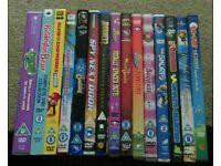A mixture of 15 kids Dvds