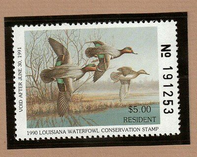 LA2 - Louisiana State Duck Stamp.  Single. MNH. OG.