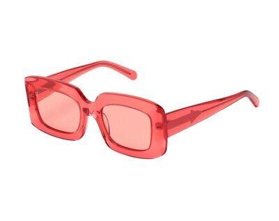 Karen Walker Loveville Sunglasses   Square, Oversized, Acetate, RED $389 RRP