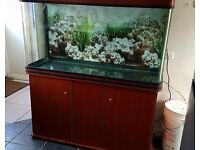 4ft aquarium and cabinet led lights blue and white plus 1 spare white led 300 litres