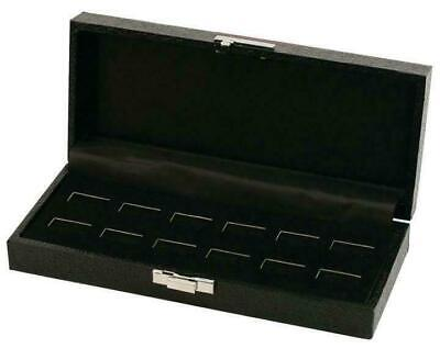 1 Black Wide Slot 6 Pair Cufflink Or 12 Ring Display Storage Box Case Organizer