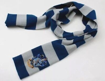 """Harry Potter Ravenclaw Scarf Blue & Gray Cosplay Costume Knit Wool 63"""" US Seller"""