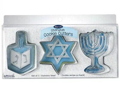 Hanukkah Cookie Cutters (Rite Lite Chanukah Hanukkah Stainless Steel Metal Cookie Cutters 3 pc Set)