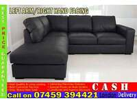 BRAND NEW QUALITY CORNER LEATHER SUITE, LEFT AND RIGHT HAND SOFA ARM