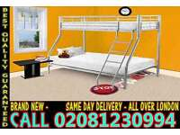 **** WOW FREE DELIVERY *** single top double bottom trio sleeper metal bunk base (Base) Bedding