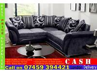 BRAND NEW 3 AND 2 SEATER FABRIC SOFA SUITE, CORNER AVAILABLE IN BLACK/GREY, BROWN/BEIGE