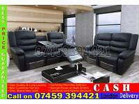 ITALIAN LEATHER 3, 2 AND 1 SEATER RECLINER SOFA SUITES IN BLACK, BROWN, WHITE RED COLOR
