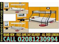 Amazing Offer single top double bottom trio sleeper metal bunk base (Base) Bedding Tulsa