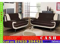 **FREE DELIVERY** High Quality Italian Leather 3 and 2 Seater Sofa Suite in Red, Brown, White