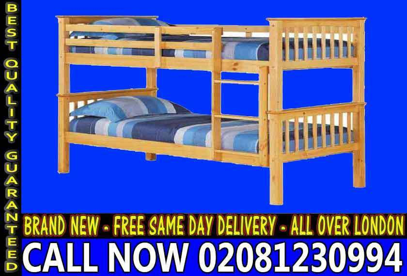 SINGLE Wooden bunkConvertable in to 2 Single BaseBeddingin Twickenham, LondonGumtree - We Provide you top quality of Furniture....Whether you are looking for Beds or any other variety Call Us without any Hesitation For Ease
