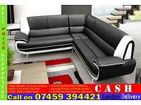 BRAND NEW LEATHER CORNER SOFA SUITES ALSO AVAILABLE IN 3 AND 2 SEATER SET